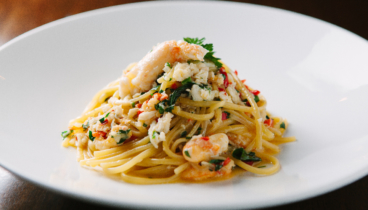 Bucci_signature_linguine al granchio (crab linguine)